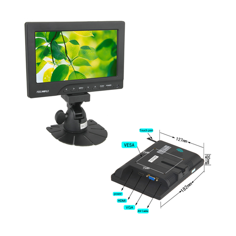 7″ Capacitive  or Resistive Touchscreen HDMI and VGA  Monitor touch display Featured Image