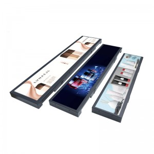 22.8 Inch Ultra Thin Multiple LCD Screen POP Strip Shelf Edge Display for Store