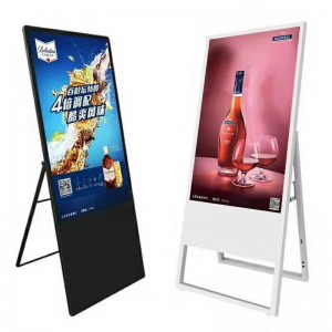 43 49 55 inch ultra thin portable lcd display advertising player digital signage