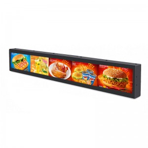 Market strip lcd display /bar lcd screen