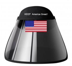 0 TRUMP Keep America Great Summer Women Visor Empty Top Sun Hat Wide Large Brim Face Sunscreen Caps