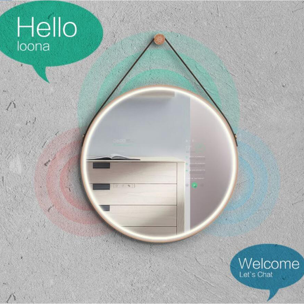 Ker smart home 13.3 inch round IP65 Android touch screen magic mirror Featured Image