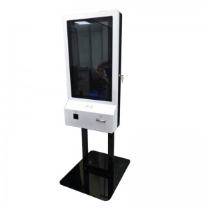 32 inch or 24 inch fast food ordering self service payment kiosk machine,bill acceptor kiosk,cash register kiosk