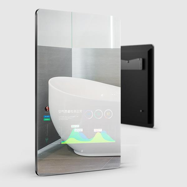 صورة كير الشاشات التي تعمل باللمس 21.5inch المرآة السحرية المنزل الذكي مرآة مميزة